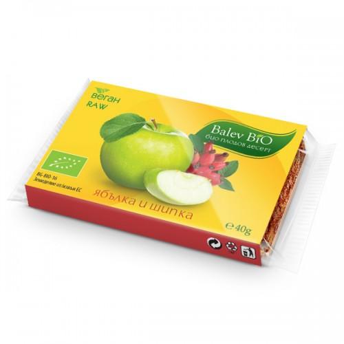 Десерт плодов ябълка и шипка Био Balev Bio, 40 гр. - Balev Bio
