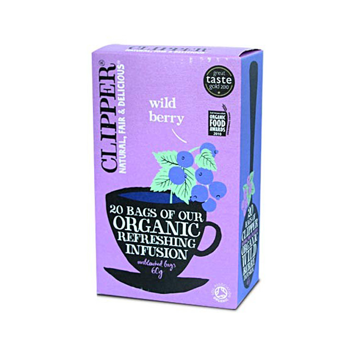 Био освежаваща плодова смес за чай от диви плодове CLIPPER TEAS, 20 бр. - CLIPPER TEAS