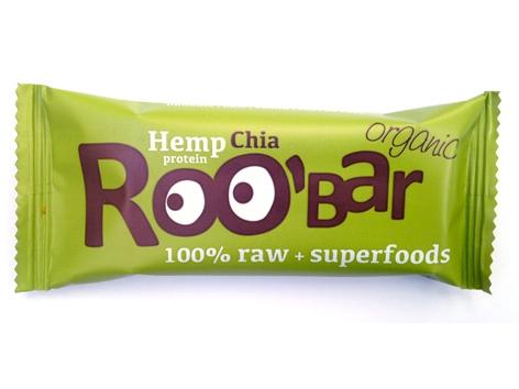 Суров бар конопен протеин и чиа Био Roobar, 50гр. - Roobar
