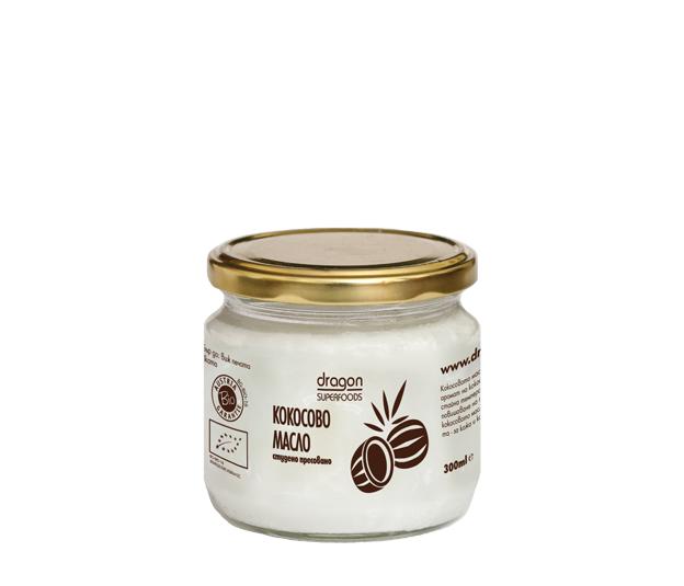Кокосово масло студено пресовано Био Dragon Superfoods, 300мл. - Dragon Superfoods