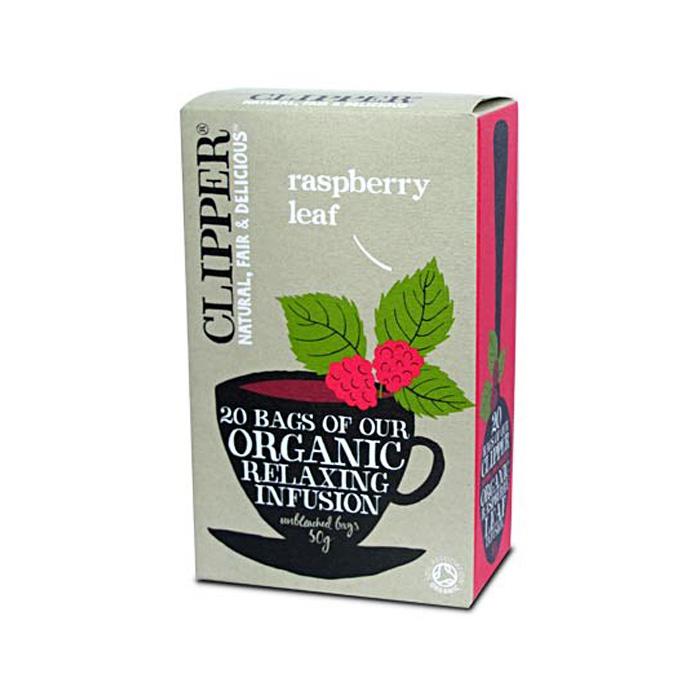 Био успокояваща плодова смес за чай от листа на малина CLIPPER TEAS, 20 бр. - CLIPPER TEAS