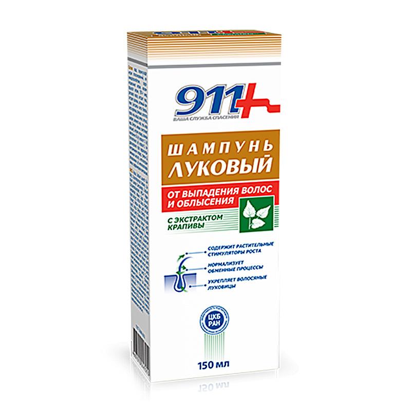 Луков шампоан с екстракт от коприва за окапваща коса 911, 150мл. - 911
