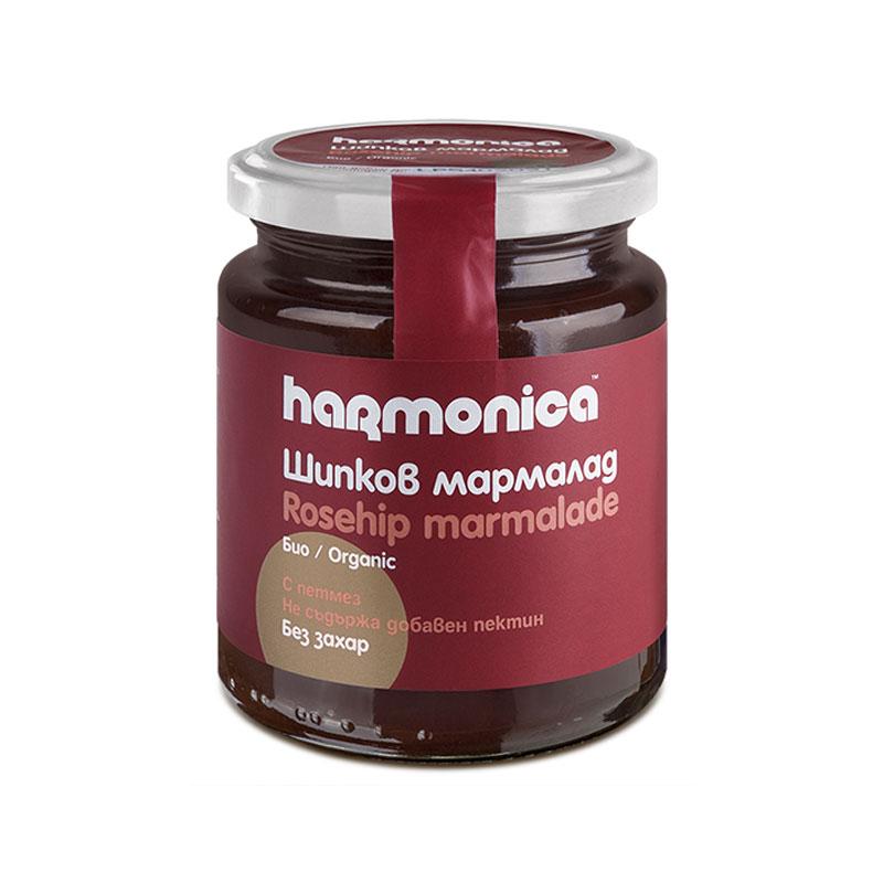 Шипков мармалад без захар Био Harmonica, 300гр. - Harmonica