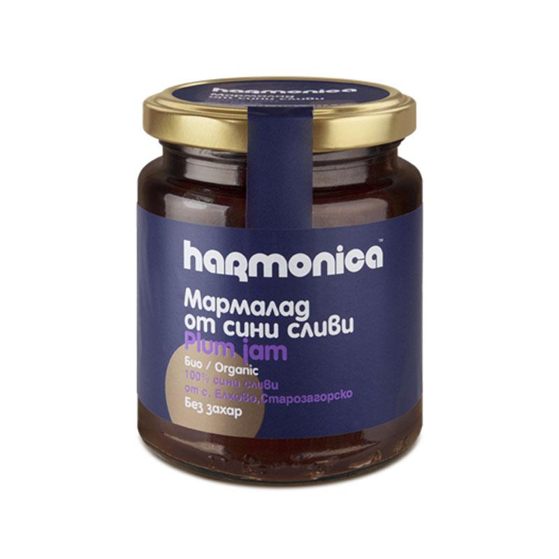 Мармалад от сини сливи без добавена захар Био Harmonica, 300гр. - Harmonica