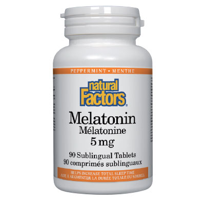 Мелатонин 5 мг. Natural Factors,  90 бр. - Natural Factors