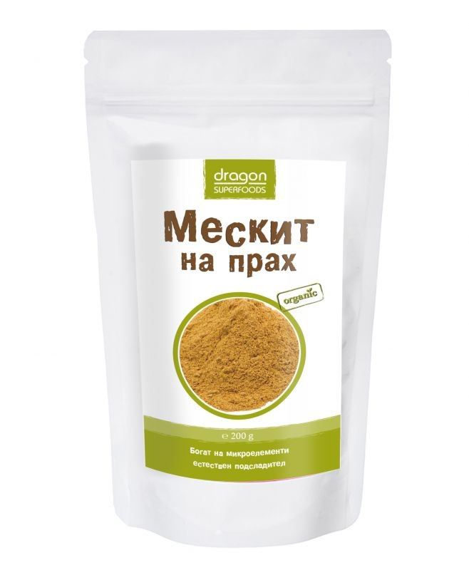 Мескит на прах Био Dragon Superfoods, 200 гр. - Dragon Superfoods