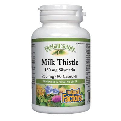 Млечен бодил 250 мг. Natural Factors,  90  бр. - Natural Factors