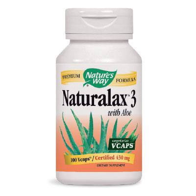 Натуралакс 3 с Алое ферокс (латекс) 430 мг. Nature'sWay,  100 бр. - Nature's Way