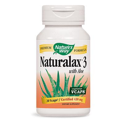 Натуралакс 3 с Алое ферокс (латекс) 430 мг. Nature'sWay,  20бр. - Nature's Way