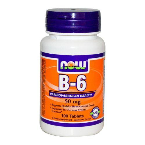 Витамин B-6 – Пиродоксин 50мг. Now, 100бр. - Now