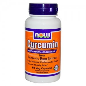 Curcumin, Now, 60 бр.