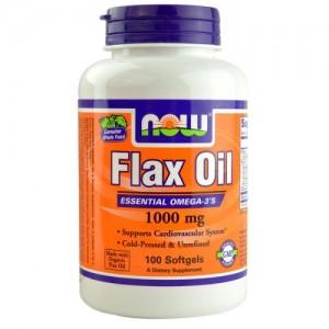 Flax Oil (Organic) 1000 МГ, Now, 100 бр.