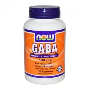 GABA 500 мг + B6, Now, 100 бр.