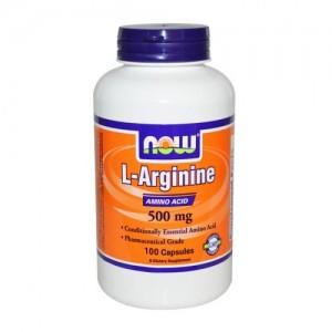 L-Arginine 500 мг, Now, 100 бр.