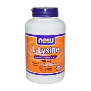 L-Lysine 500 мг, Now, 100 бр.