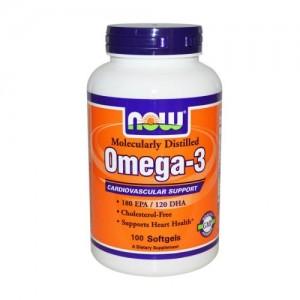 Omega-3 1000 мг, Now, 100 бр.