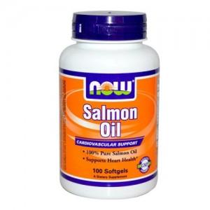 Salmon Oil 1000 мг, Now, 100 бр.