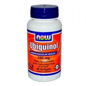 Ubiquinol 100 мг, Now, 60 бр.
