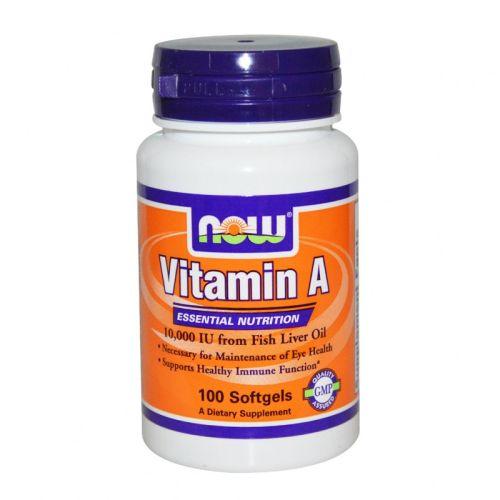 Витамин А 10,000 IU Now, 100бр. - Now