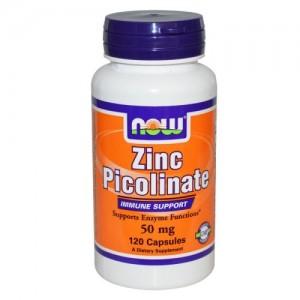 Zinc Picolinate 50 мг, Now, 120 бр.