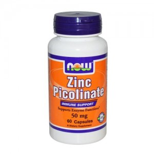 Zinc Picolinate 50 мг, Now, 60 бр.