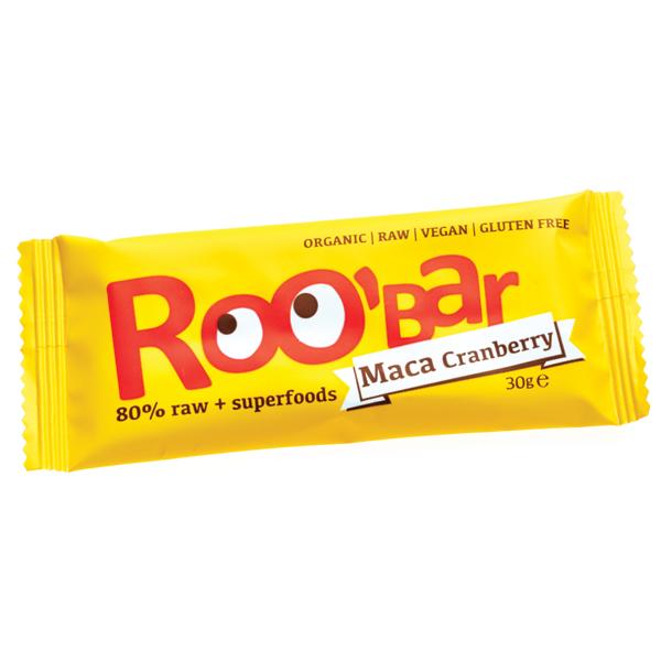 Суров бар мака и червени боровинки Био Roobar, 30гр. - Roobar