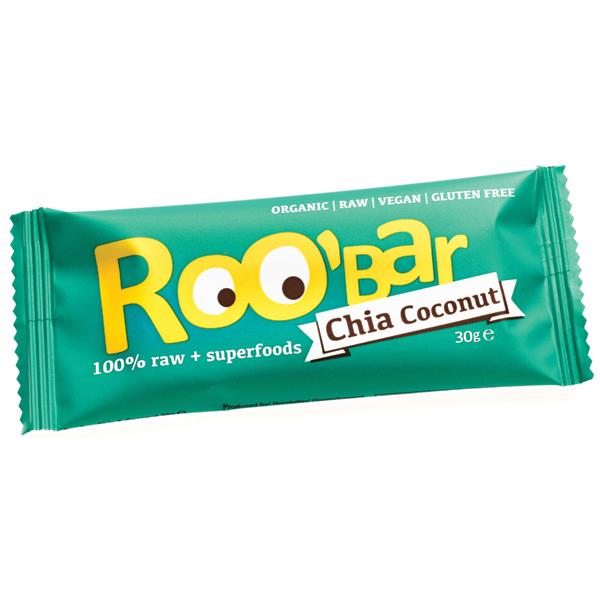 Суров бар чиа и кокос Био Roobar, 30гр. - Roobar
