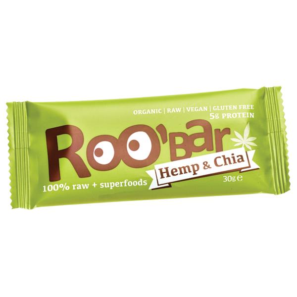 Суров бар конопен протеин и чиа Био Roobar, 30гр. - Roobar