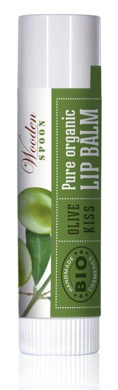 Балсам за устни Olive kiss Био Wooden Spoon, 4.3мл. - Wooden Spoon