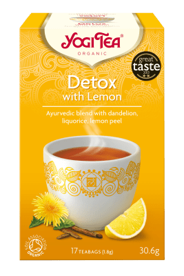 Чай детокс с лимон Био Yogi Tea, 17бр. - Yogi Tea