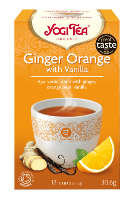 Чай джинджифил и портокал с ванилия Био Yogi Tea, 17бр. - Yogi Tea