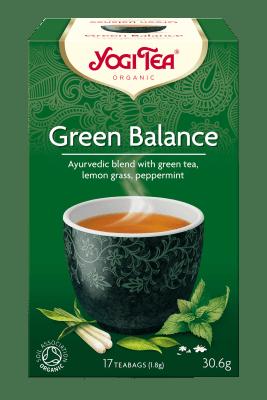 Зелен баланс чай Био Yogi Tea, 17бр. - Yogi Tea