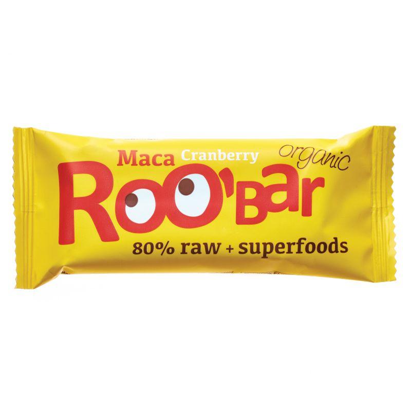 Суров бар мака и червени боровинки Био Roobar, 50гр. - Roobar