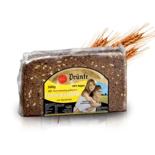 Ръжен хляб със слънчогледови семки Prunte, 500 гр. - Prunte