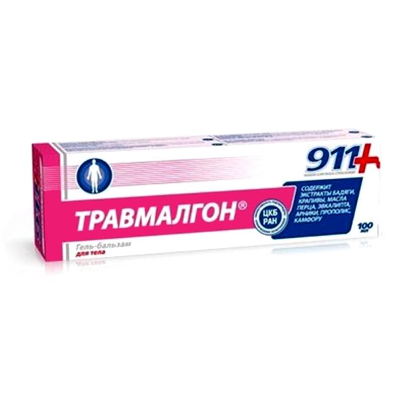 Масажен гел за областта на гърба, кръста и раменете Травмалгон 911, 100мл. - 911