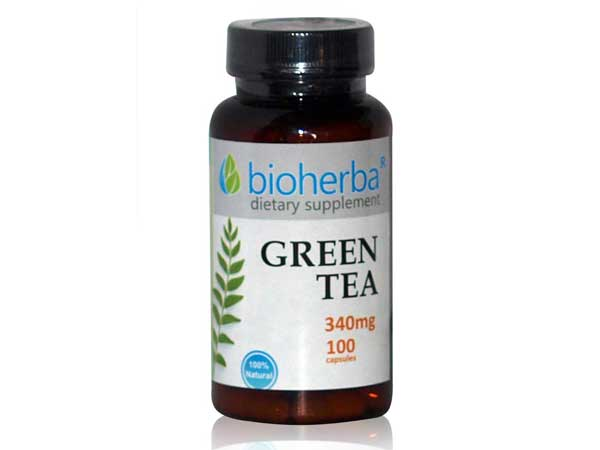 Зелен чай 340 мг. Bioherba, 100 бр. - Bioherba