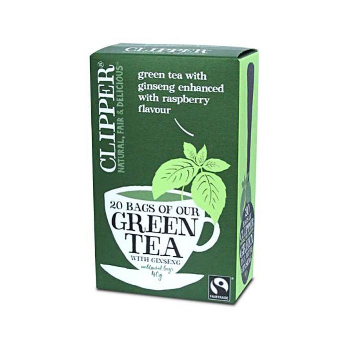 Зелен чай с женшен и аромат малина CLIPPER TEAS, 20 бр. - CLIPPER TEAS