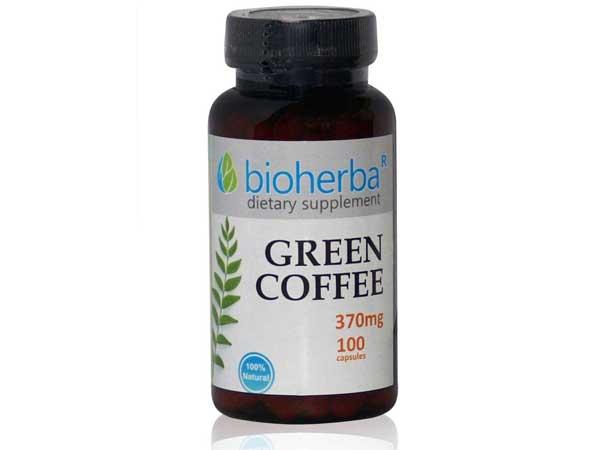 Зелено кафе 370 мг. Bioherba, 100 бр. - Bioherba