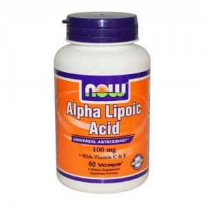 Alpha Lipoic Acid 100 мг, Now, 60 бр.