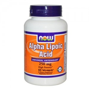Alpha Lipoic Acid 250 мг, Now, 60 бр.