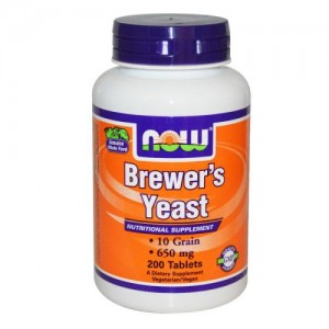 Brewers Yeast (Бирена Мая) 650 мг, Now, 200 бр.