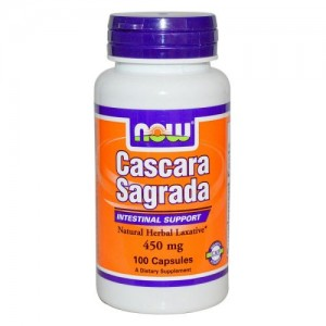 Cascara Sagrada (Зърнастец) 450 мг, Now, 100 бр.