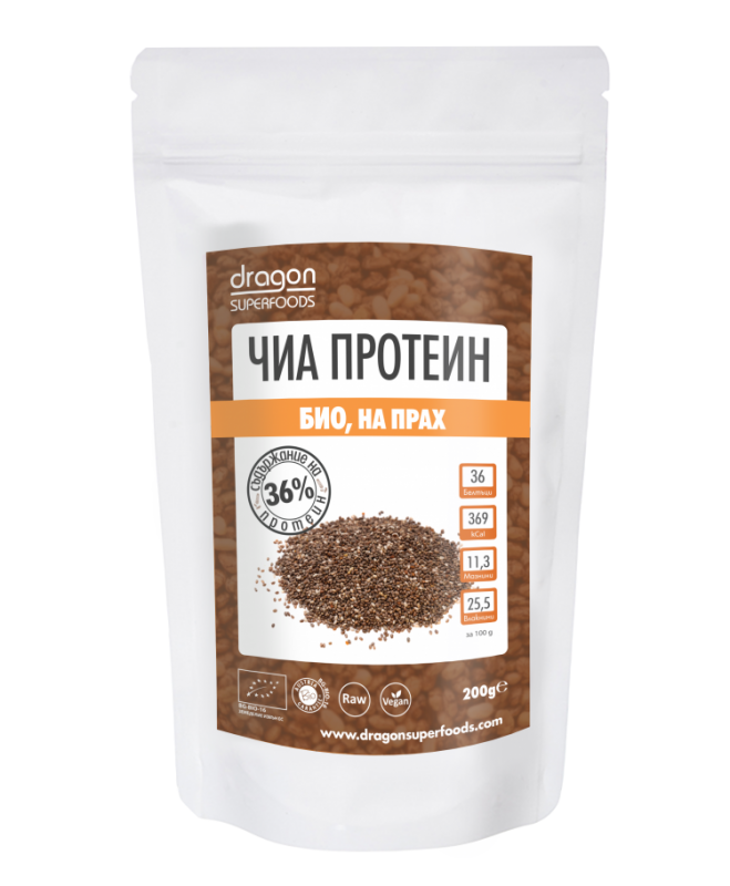 Чиа протеин Dragon Superfoods, 200 гр. - Dragon Superfoods
