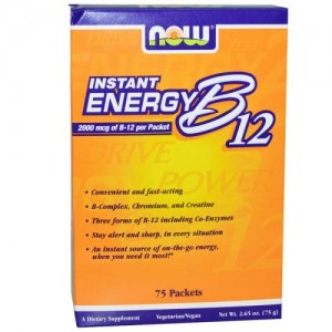 Vitamin B-12 Instant Energy, Now, 75 бр.