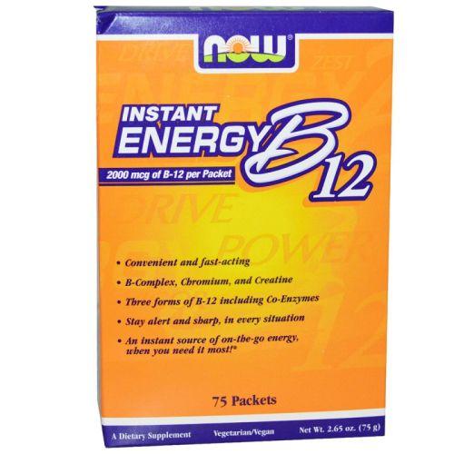 Витамин B-12 Instant Energy Now, 75бр. - Now