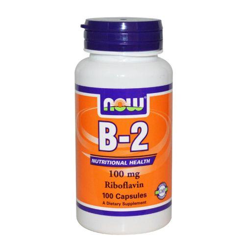 Витамин B-2 – Рибофлавин 100мг. Now, 100бр. -