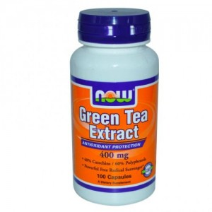 Green Tea Extract 60% 400 мг, Now, 100 бр.