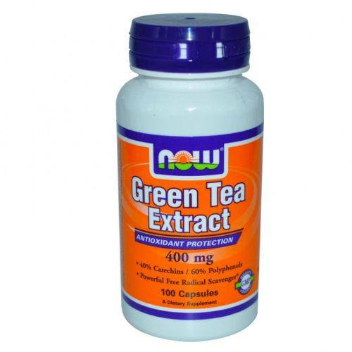 Екстракт от Зелен Чай 60% 400мг. Now, 100бр. -