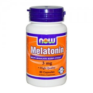 Melatonin 3 мг, Now, 60 бр.