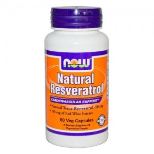 Natural Resveratrol 50 мг, Now, 60 бр.